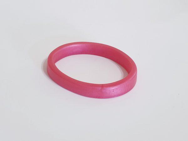 Large Uniquely Shaped Pink Bangle