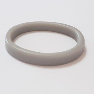 Grey Mid Size Oval Shaped Bangle